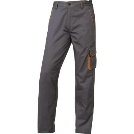 Pantalon talie M6PAN Gri-Portocaliu