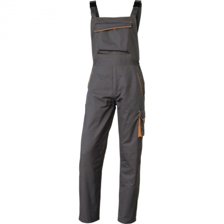 Pantalon cu pieptar M6SAL Gri-Portocaliu