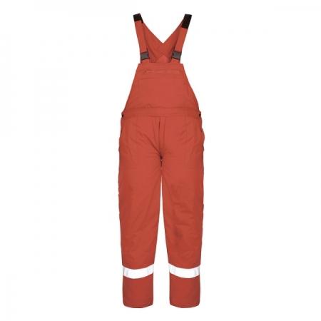 Pantalon cu pieptar PILZEN Rosu